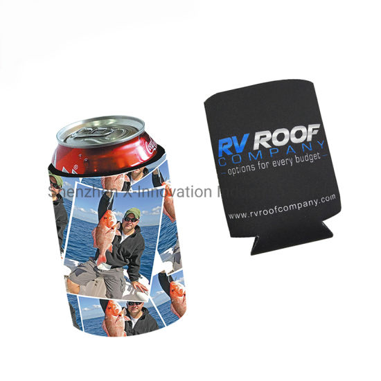 Promotional Personalized Custom Waterproof Full Color Printing Neoprene Can Cooler pictures & photos