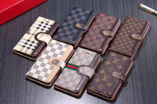 Retro Brands Logo PC+Leather Wallet Mobile Phone Case Card Slot Phone Cover