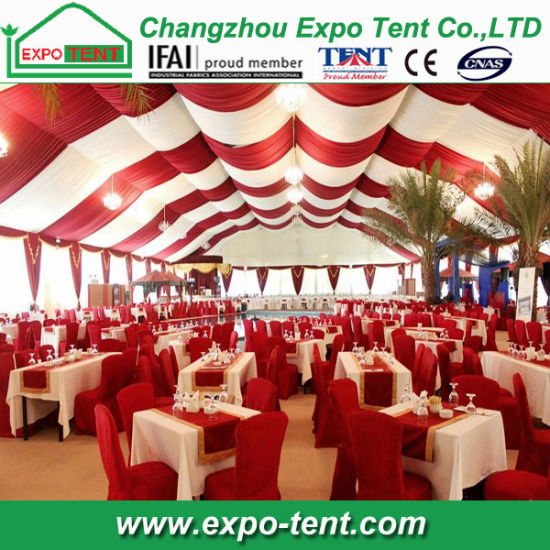 Big outdoor Dubai Tent with Lining Decoration