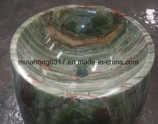 Green/Grey/Green/Black/Rusty/Yellow/White/Pink/Beige/Multi  Brown/Red/Ora Onyx Sinks/ Marble Sink/ Stone Sinks/Bathroom Sink/Washing Basin/Polished Sink pictures & photos