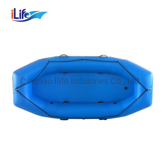 Ilife 1.2 mm PVC Drop Stich Self- Bailing Floor Inflatable White Water Raft Boat Fishing Whitewater River Paddle Rafting