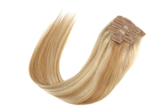 100% Human Hair Clip-in Hair Extension #27/613 Color pictures & photos