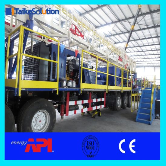 API Standard Oil Field Oil and Gas Well Bore Hole Truck Mounted Mobile Zj30  750HP Drilling Rig and Workover Rig