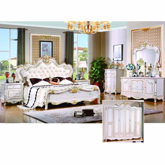 Bedroom Furniture Set With Double Bed (W803B)