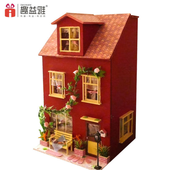 Direct Manufacturer Wooden Doll House Toy For Birthday Gift Pictures Photos