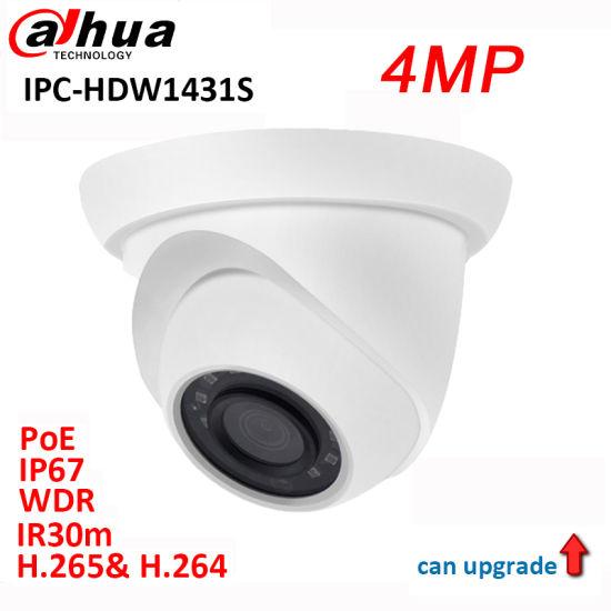 Original Dahua 4MP CCTV WDR IR 30m Network IP Camera Ipc-Hdw1431s