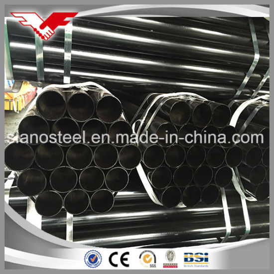 """3-1//2/"""" A500 Bare Carbon Steel Schedule 40 Pipe x 6/"""" Long"""