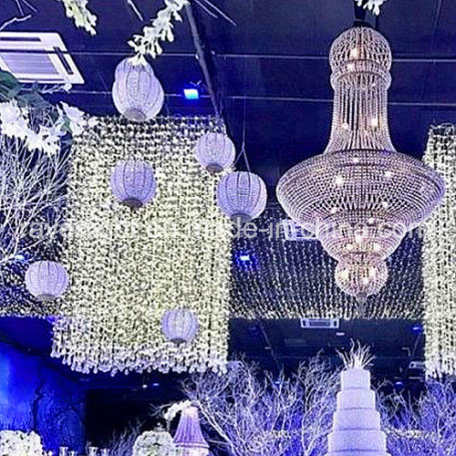 Customized Wedding LED Curtain Lights with Crystal Decoration pictures & photos