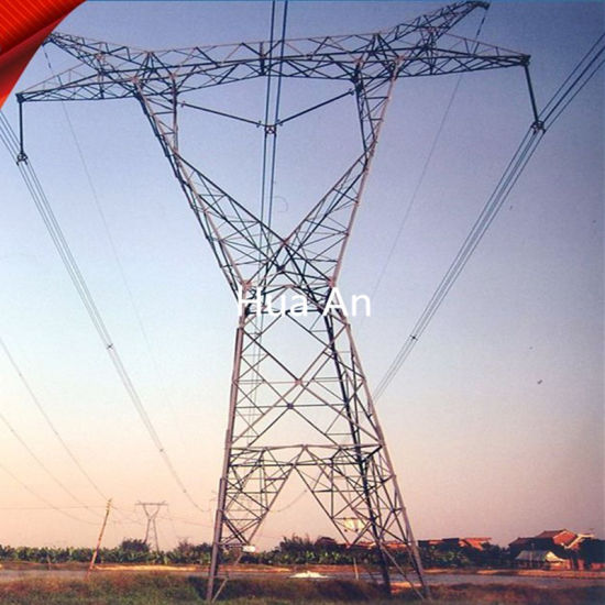 High Voltage AC Power Electric Transmission Steel Tower Hot DIP Galvanized pictures & photos