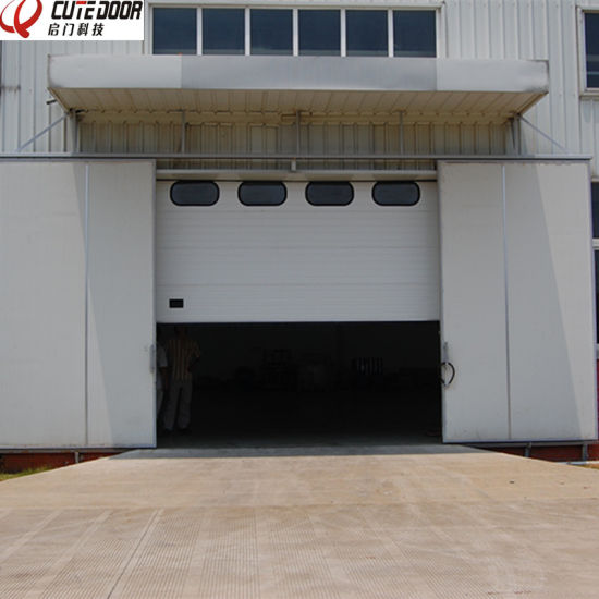 Standard Lift Polyurethane Foam Large Industrial Door for Factory pictures & photos