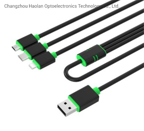 3 in 1 USB Cable USB2.0 Charging and Data Cable 2A for iPhone Type C Micro Mobile Phone Accessories