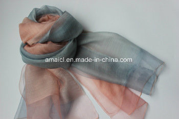 Silk & Wool Blended Shawl (AFS1000385) pictures & photos