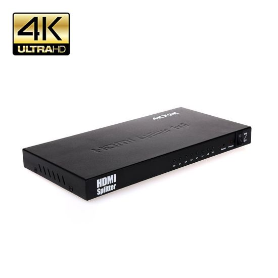 China HDMI Splitter 1 in 8 out Ver1 4 Support Ultra HD 4k 3840X2160p