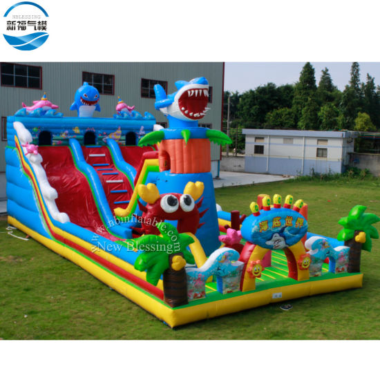 Commercial Grade Giant Inflatable Games Fun City Amusement Park