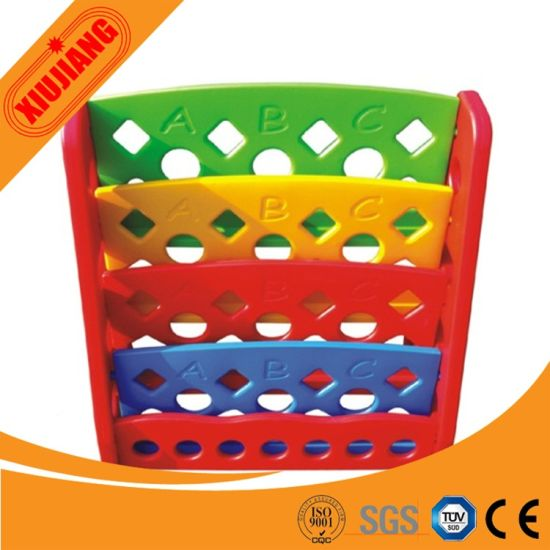 Colorful Plastic Kids Toy Book Shelf for Sale pictures & photos