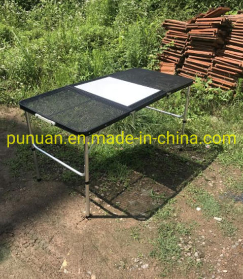Portable Steel Net and Alu Tube Barbecue Table pictures & photos