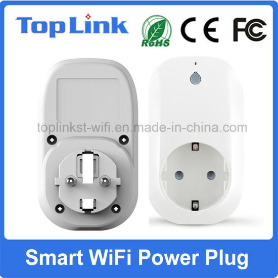 Electronic Wireless Smart WiFi Power Socket with EU Type Plug Support Alexa
