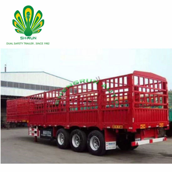 Fence Cargo Semi Trailer for Livestock Poultry Transportation