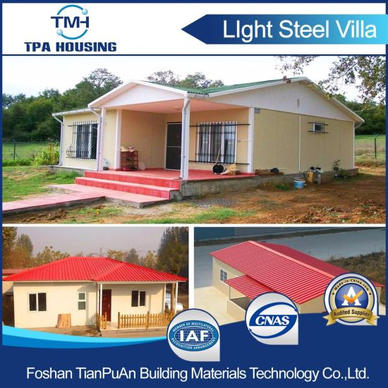 Light Steel Structure Modular Villa Home Design Prefabricated House pictures & photos