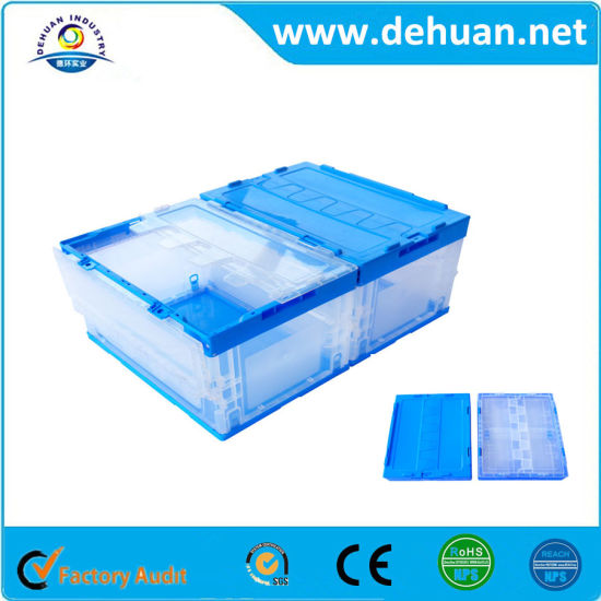 China Food Grade Folding Cold Plastic Storage Containers Box with