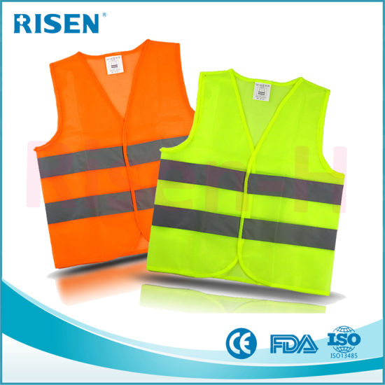 Reflective Polyester Cloth Promotional Logo Printed High Visibility Safety Vest pictures & photos