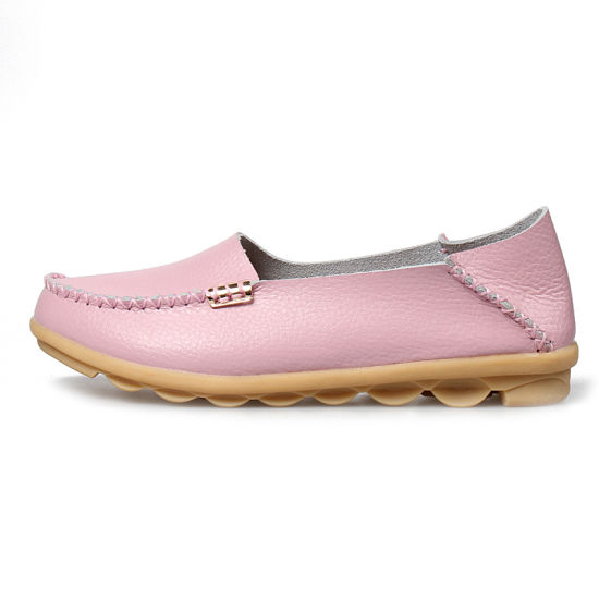 33 Kinds of Color Genuine Leather Women Flats Loafers Moccasins Ladies Womens Casual Shoes