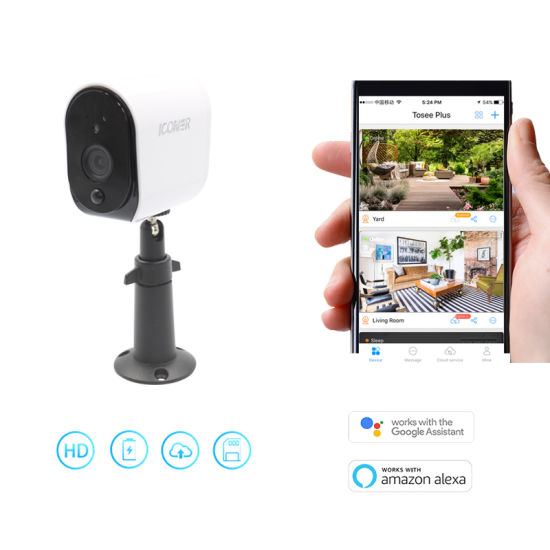 Working with Alexa Wire-Free WiFi Battery Wireless 1080P Camera Home Security System pictures & photos