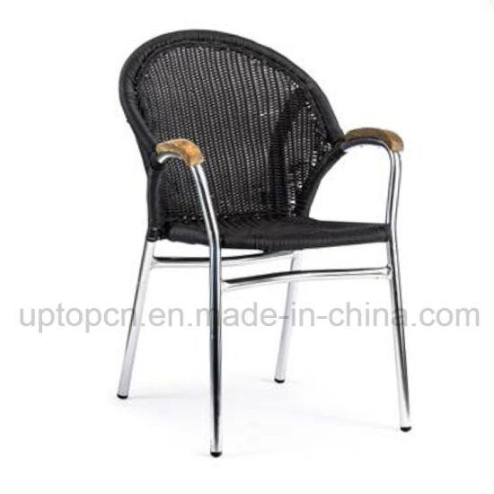 Wholesale Outdoor Furniture Aluminum Arm Chair with PE Rattan (SP-OC389)