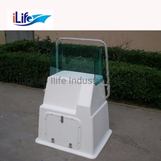 Ilife High Quality Fiberglass Material Center Console and Seat Available for Aluminium Speed Boat