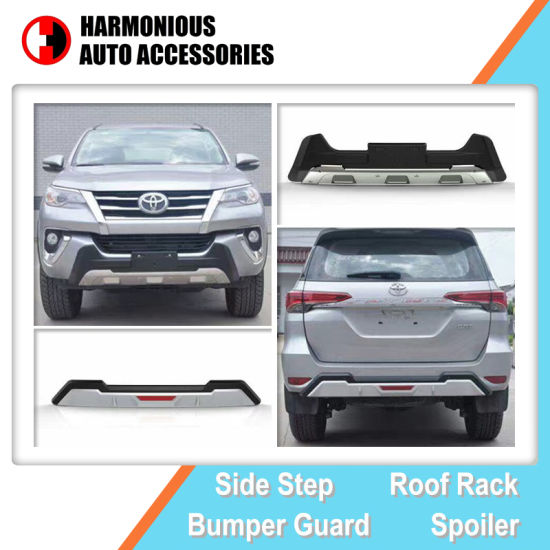 Front and Rear Bumper Guard for Toyota Fortuner (SW4) 2016 2017