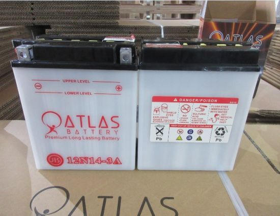 12n14-3A 12V14ah Dry Charged Motorcycle Battery