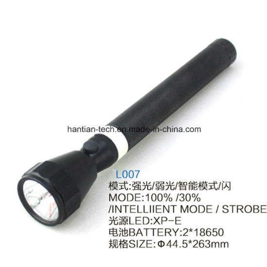 China 2*18650 Lithium Battery CREE 3W Aluminum Rechargeable