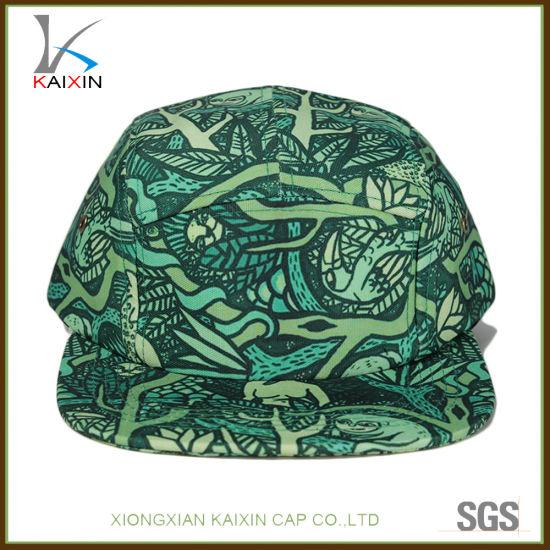 b4695ec6c119f China Custom Green New Fashion Design Floral 5 Panel Blank Hat ...