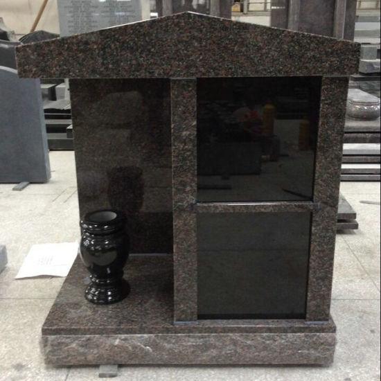 Indian Mahogany 2 Niches Family Cremation Columbarium