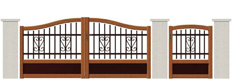 Decorative Commerical High Quality Wrought Iron Gate pictures & photos
