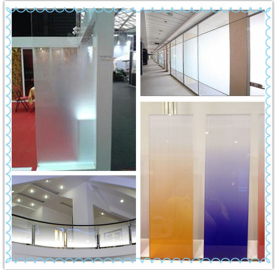 New and Decorative Gradient Glass For Hotel Window And Doors pictures & photos