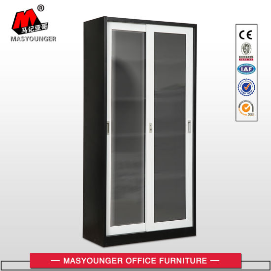 China Best Selling Stainless Steel Sliding Glass Door Cupboard