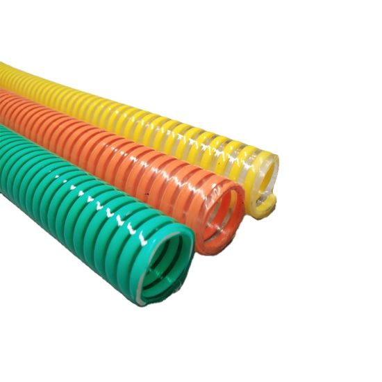 Jubo Wholesale Corrugated Strong Flexible PVC Suction Water Hose Pipe Tubing pictures & photos