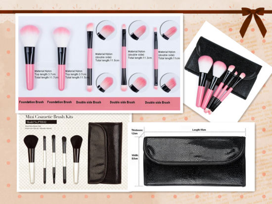 Hot 5 Cosmetic Brush Set Makeup Brush Set pictures & photos