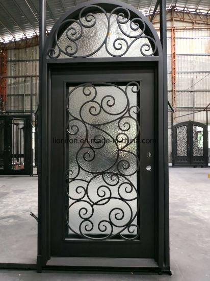 Security Custom Iron Entrance Door Wrought Iron Front Doors