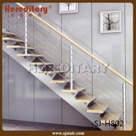 Single Stringer Steel Wood Integral Staircase UK Design System (SJ H802)