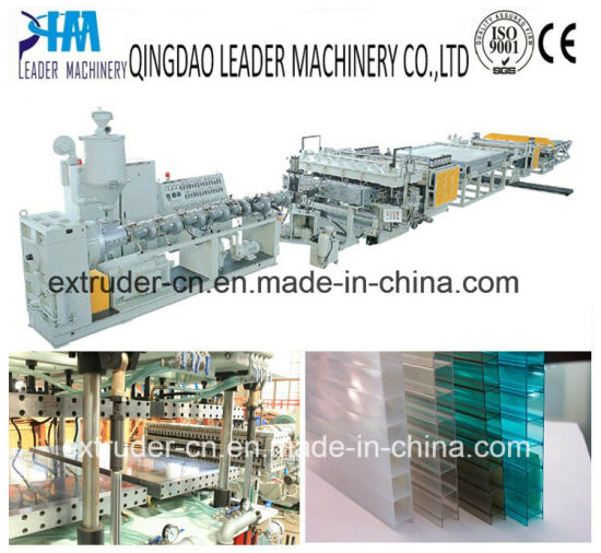 UV Resistance Polycarbonate PC Hollow Grid Sheets Extrusion Line pictures & photos