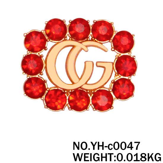 Customized Metal Brand Logo with Reinstone for Handbag 27X33mm