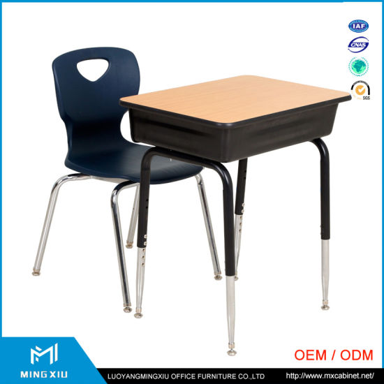 China High Quality Adult School Desk / Single Student Desk and Chair pictures & photos