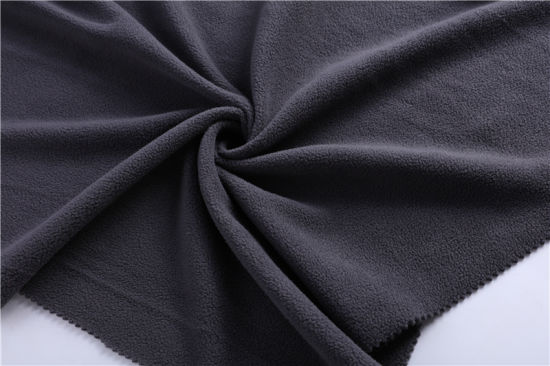 100 Polyester Micro Suede Bonded with Polar Fleece