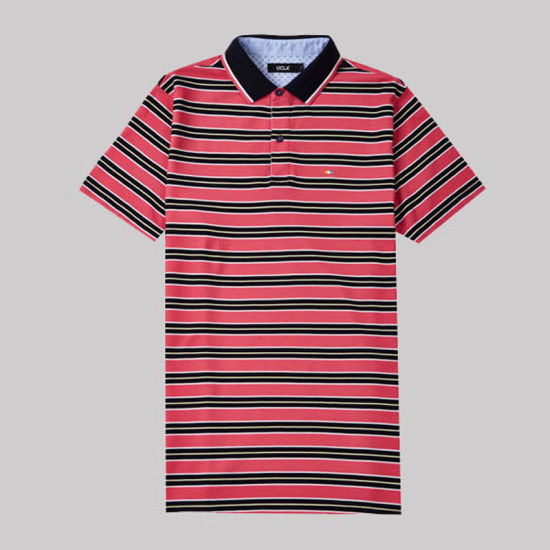 China T Shirt Manufacturers Stripe 100 Cotton Polo Shirt for Men pictures & photos