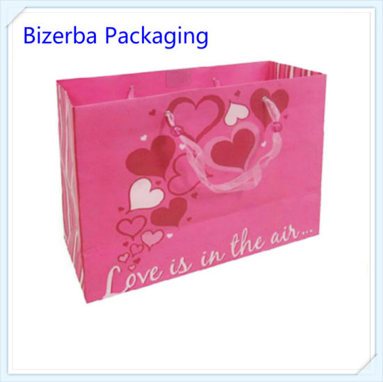 Paper Carry Printing Bag Wholesales with Silk Handle pictures & photos