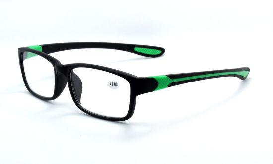 High Quality Italy Design Ce Unisex Plastic Frame Sport Reading Glasses