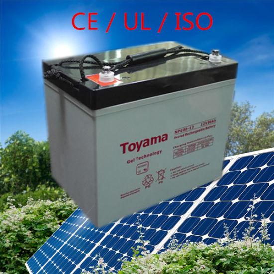 12V80ah Deep Cycle Gel Solar Batteries