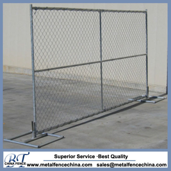 Hot Dipped Galvanized Chain Link Wire Mesh Portable Temporary Fence